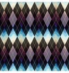 Classic argyle pattern with wavy shadow vector