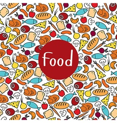 Seamless pattern food vector