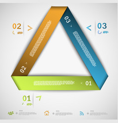 Infographic paper triangle template vector