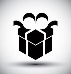 Gift box simple single color new idea symbol vector