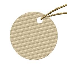 Round cardboard tag vector