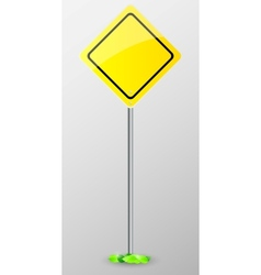 Yellow sign isolated vector