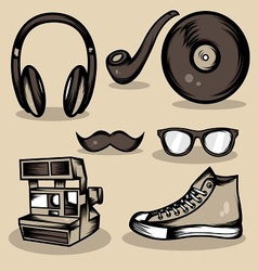 Hipster stuff collection vector