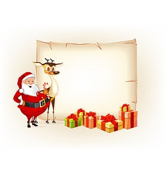 Christmas thematic parchment vector