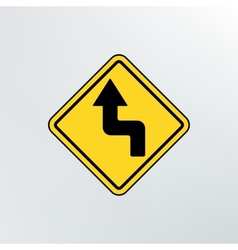 Left reverse turn icon vector