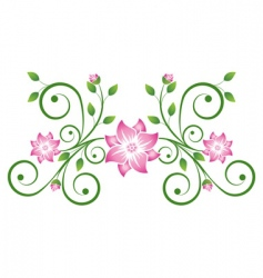 Decorative scroll vector