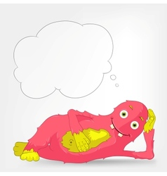 Funny monster relaxation vector