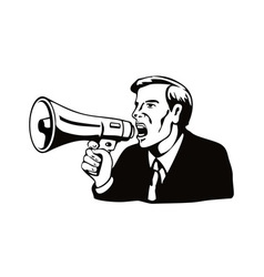 Businessman with megaphone vector
