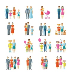 Family icons flat vector