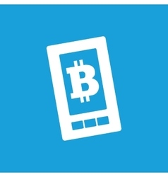Bitcoin on screen icon vector