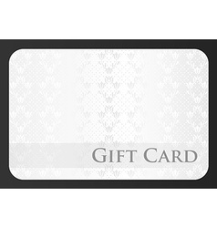 Exclusive white gift card with damask ornament vector