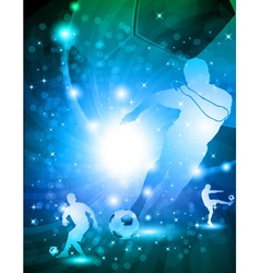 Shiny abstract soccer background vector