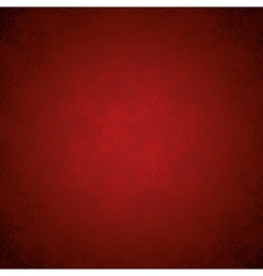 Elegant deep red silk royal flower pattern vector