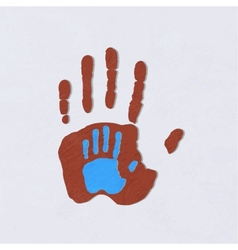 Helping hands adult care about childgreeting vector