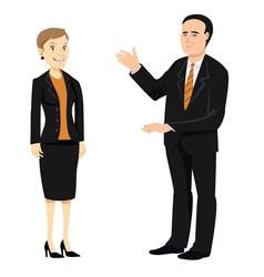 Businessman businesswoman older vector