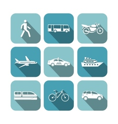 Transportation icons set vector