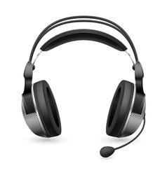 Computer headset microphone vector