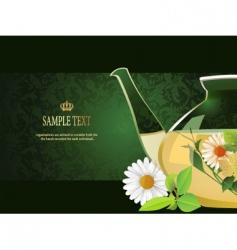 Glass teapot vector