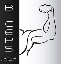 Bodybuilding design vector