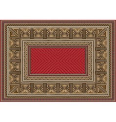 Luxurious oriental carpet with original pattern vector