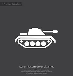 Tank premium icon vector