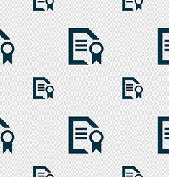 Award file document icon sign seamless pattern vector