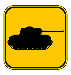 Panzer button vector