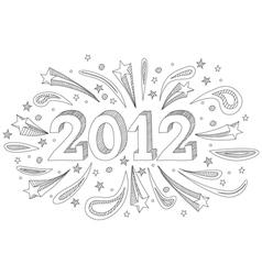 2012 doodle vector