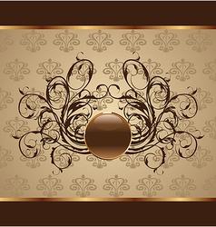 Gold floral packing design element - vector