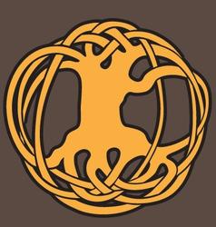 Celtic floral symbol vector