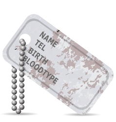 Military dog tag vector