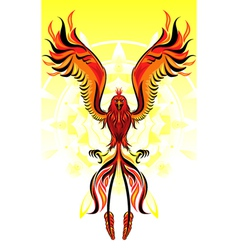 Phoenix flame bird vector