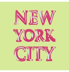 New york flag typography t-shirt graphics vector