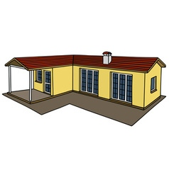Yellow small house vector