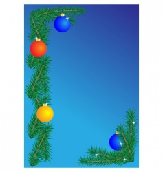 Christmas border on blue background vector
