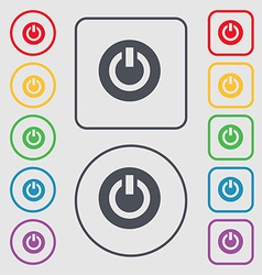 Power switch on turn on icon sign symbol on the vector
