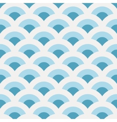 Vintage abstract sea waves pattern vector