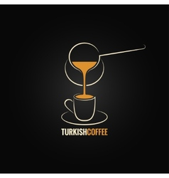 Coffee cup turkish recipe background vector