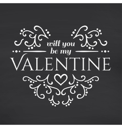 Happy valentines day blackboard background vector