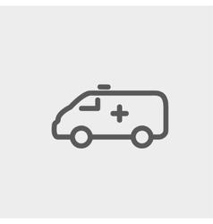 Ambulance car thin line icon vector