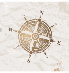 Vintage paper with compass rose vector