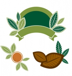 Food design elements with leafs vector