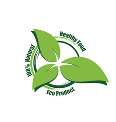 Eco product label vector