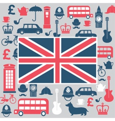Symbols of great britain vector