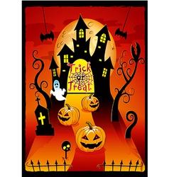 Halloween cover design with pumpkin vector