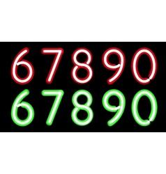 Neon digits vector