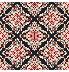Seamless ethnic style damask pattern vector
