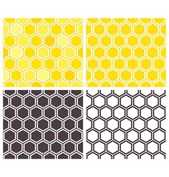 Honeycomb seamless pattern set vector
