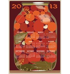 Calendar 2013 tomatoes vector