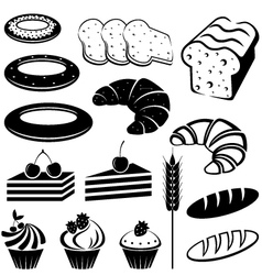 Set of baking and bread vector
